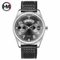男士新款运动休闲商务手表 个性日历飞行员皮带石英手表