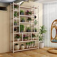 简约现代铁艺实木花架多层室内装饰 铁艺多层花架子实木多功能花盆架隔断花架客厅