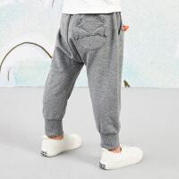 【5折券预估价:134.55元】马拉丁童装男小童裤子春装2020年新款针织长裤黑色休闲运动裤