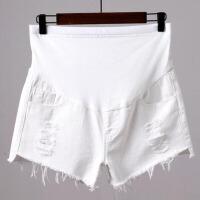 夏季薄款打底裤破洞牛仔短裤宽松夏装裤子孕妇短裤外穿孕妇裤