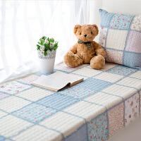 拼布飘窗垫田园布艺防滑窗台垫时尚榻榻米手工艺绗缝坐垫定制