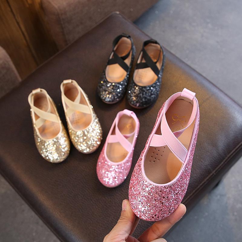 女童皮鞋小女孩公主鞋学生演出舞蹈鞋防滑豆豆鞋
