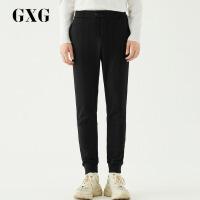 【GXG过年不打烊】GXG男装 秋季男士时尚都市青年都市商务流行修身黑色休闲长裤男
