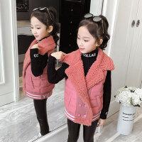 儿童马甲 女童翻领时尚无袖外套2019冬季新款韩版外穿加棉马甲中大童无袖棉服