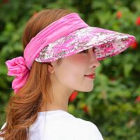 遮阳帽女夏季可折叠遮脸防晒太阳帽多功能防晒帽夏天
