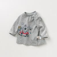 davebella戴维贝拉童装春季新款男童T恤宝宝卡通印花上衣DBJ10980