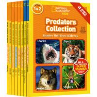 【全店满300减80】英文原版 National Geographic KIDS Readers Collection 8册32个故事合辑 美国国家地理儿童百科分级读物 小学STEM课程课外读物