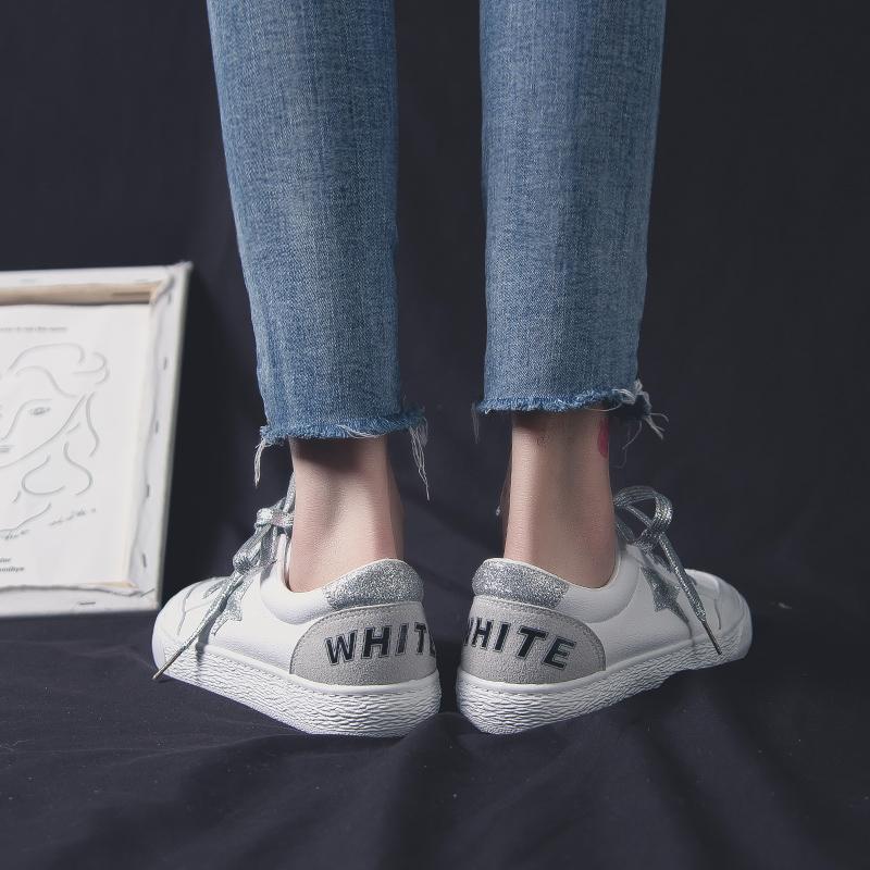 星星小白鞋女2019春季女鞋百搭学生板鞋子网红女款鞋 白色  冬季时尚新款女鞋男鞋