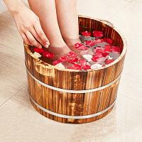 家用泡脚桶小号木桶木质足浴盆木头盆实木洗脚盆木盆足浴桶成人