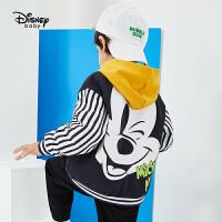 【今日3折�A估�r:81.8元】迪士尼男童外套多彩�r光男童��棒球外套上衣