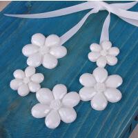 五朵花亚克力假领子 白色玫瑰花女士配饰装饰韩国百搭假衣领