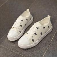 帆布鞋女2018秋冬韩版ins小白鞋学生时尚休闲平底系带文艺运动鞋