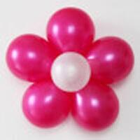 孩派生日派对装饰布置宝宝周岁用品小单层五瓣花约22cm气球花多色