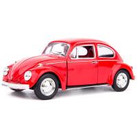 G63车模小汽车迷你车载摆件汽车模型仿真合金玩具车 甲壳虫1967 红色盒装