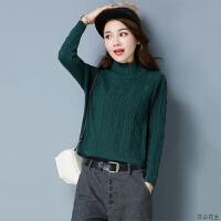 纯色羊毛衫打底衫女秋冬加厚半高领显瘦针织衫套头高腰毛衣女短款