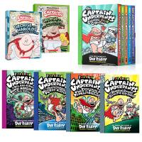 【中商原版】我的校长是超人 内裤超人队长系列8册 全彩版 英文原版 Captain Underpants 学乐全彩精装