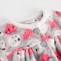 男童女童睡衣法兰绒 儿童家居服套装 宝宝冬装加厚童装