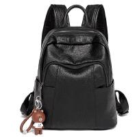 香港潮牌双肩包女新款百搭女士包包羊皮背包大容量旅行包