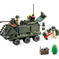 军事系列装甲战车模型立体组装拼插积木兼容乐高启蒙益智男孩儿童玩具礼物5-14岁 启蒙814装甲车