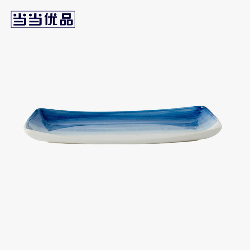 当当优品 13.2寸鱼盘单只装 星河系列 陶瓷盘 日式盘当当自营 希尔顿制造商 釉下彩 潮州白瓷 微波炉适用