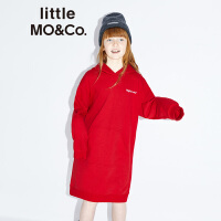 littlemoco秋季新品女童连衣裙FelixCat连帽卫衣裙小女孩休闲裙