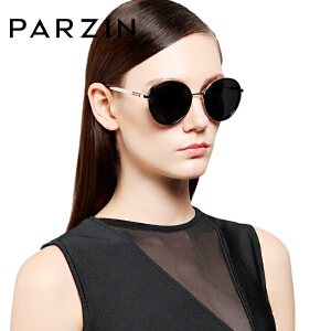 帕森太阳眼镜 轻盈TR90偏光镜 复古圆框潮墨镜 炫彩驾驶镜9835
