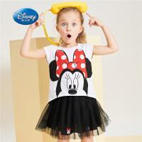 迪士尼半身裙夏季新款儿童公主四季短裙小女孩裙子女宝宝网纱裙