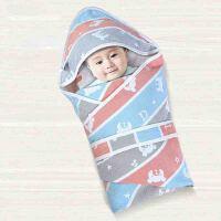 宝宝纱布被子薄款 初生婴儿抱被睡袋两用春夏季