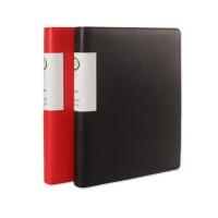 康百AS730皮质活页资料册A4多层资料夹活页夹多款可选颜色随机