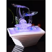 乔迁*客厅装饰品流水桌面小喷泉摆设陶瓷创意加湿器摆件