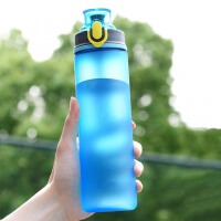 大容量运动水杯男女便携防摔学生户外健身水壶太空杯塑料杯