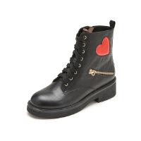 【 限时4折】哈森旗下爱旅儿冬爱心帅气女鞋马丁靴短靴EA78501