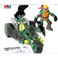奥迪双钻忍者神龟儿童玩具 莱昂纳多铁胆越野车/拉菲尔极速战车
