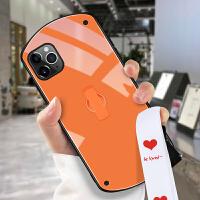 iPhone11手机壳女圆形壳简约pro纯色ins风max个性创意苹果xsmax新款抖音xr同款x清新8挂绳7防摔支架