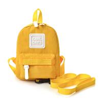 防走失包1-3岁幼儿园书包印字可爱男婴儿背包女宝宝包包迷你防走丢背包 黄色 小号防走失包