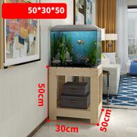鱼缸底柜实木底座家用客厅装饰小型超白玻璃架子草缸百叶门水族箱