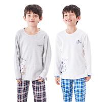 儿童家居服套装男童春秋中大童男孩宝宝长袖睡衣薄套装