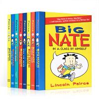 英文原版 Big Nate 我们班有个捣蛋王 大内特系列8册合售绘本套装学生超人气漫画 儿童章节桥梁书黑白插图版 小屁