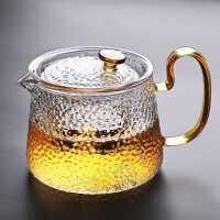 玻璃茶壶单壶功夫泡茶壶煮茶家用耐热高温过滤花茶壶茶具套装加厚