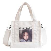 帆布包女学生韩版单肩斜挎包原宿布袋包小包包