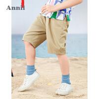 【2件4折价:95.6】安奈儿童装男童短裤夏季沙滩中裤2021新款洋气中大童五分裤韩版潮