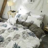 北欧ins男女学生情侣床单四件套少女心被套1.8m宿舍1.2床上三件套
