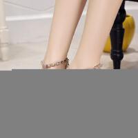 中跟单鞋女7cm粗跟尖头浅口丁字鞋铆钉时尚浅口性感高跟鞋中空女
