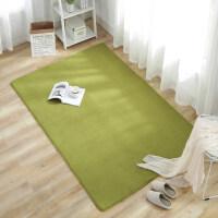 珊瑚绒简约现代卧室满铺可爱客厅茶几垫沙发榻榻米床边地毯可定制 升级款 草绿 2.0x3.0米 送门垫