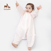 欧孕宝宝夏季精梳纱薄款分腿睡袋婴幼儿空调房睡袋防踢被子