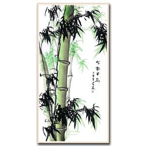中国老年书画研究会会员 田川 《竹报平安》 DW141