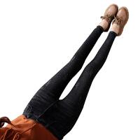 新年礼物加绒高腰黑色牛仔裤女九分2019秋冬款韩版显瘦弹力加厚小脚裤长裤