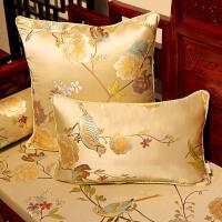 中式抱枕枕头床头大靠背客厅办公室靠枕古典中国风沙发靠垫套含芯