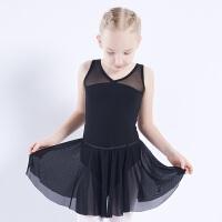 儿童舞蹈服装女无袖分体练功服套装拉丁舞跳舞舞蹈裙