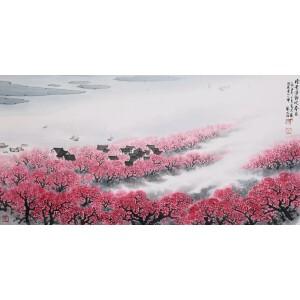 著名国画家 宋文治《暗香浮动迎春来》